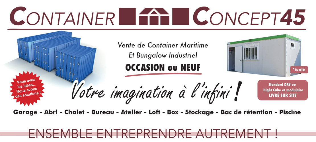 container concept 45 vente de containers achat et n goce de v hicules. Black Bedroom Furniture Sets. Home Design Ideas